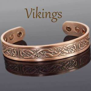 809c6f7d5817b Image is loading VIKING-Bracelet-Men-Copper-Magnetic-Bracelet-Healing-Bangle -