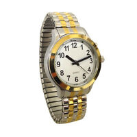 Lady's Talking Alarm Watch Twotone Time,month,day,date Low Vision & Blind