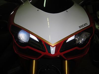 ►2X DUCATI 848,1098,1098S LED 1W BAX9S ULTRA PARKING LIGHT ORANGE XENON NEU