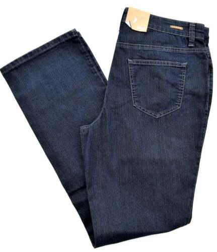 MAC MELANIE Jeans Denim Stretch dunkel blau pure straight fit NEU