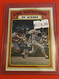 VINTAGE-1972-Topps-Baseball-Card-Set-38-HOF-RED-SOX-CARL-YASTREMSKI-IN-ACTION