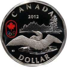 CLEARANCE MUST SELL! Canada 2012 $1 Fine Silver Lucky Loonie 99.99% Silver coin