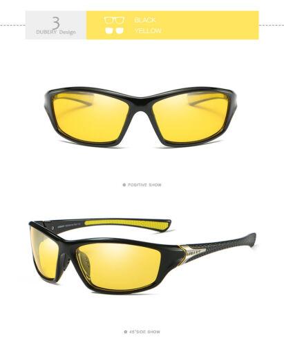 DUBERY 120 new Polarized Sunglasses night vision Outdoor Sports SunGlasses uv400
