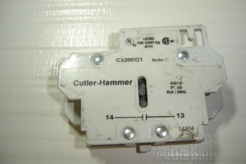 CUTLER HAMMER C320KG1 SER A2 AUX CONT BLOCK RATING A600//P300