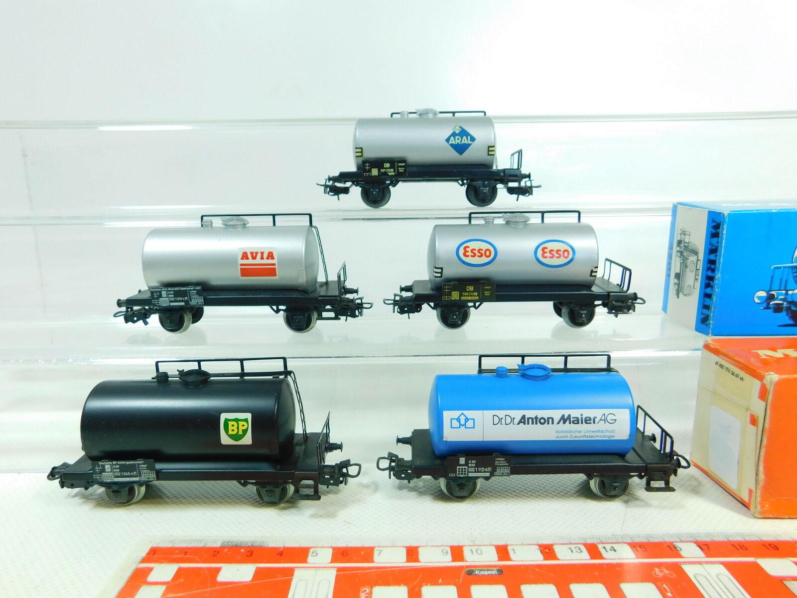 BS799-0,5  5x   H0/Ac Vagone Cisterna Avia,Aral,Bp Etc. 4500,4501; 2x Ovp