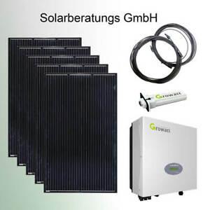 1625 Watt Solaranlage Growatt komplett Solaranlage Solarmodule Plug&Play