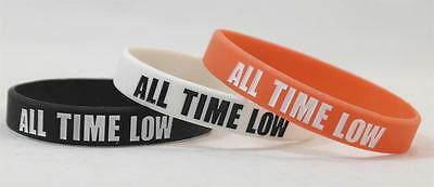 ALL TIME LOW Silicone Wristbands  Alex Jack Rian Zack Red White Black Music