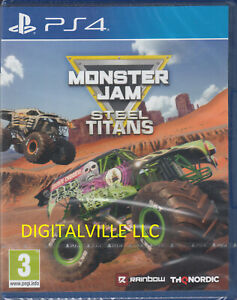 Monster Jam Steel Titans PS4 Brand New Factory Sealed Truck Crush PlayStation 4