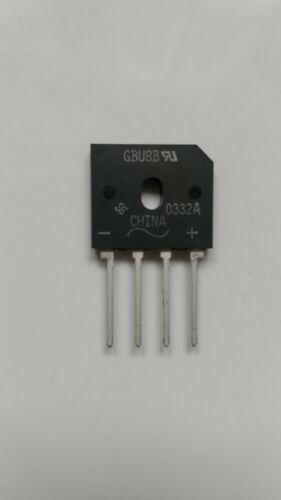 6x Brückengleichrichter GBU8B 100 V 8 A SIP  4 Pins