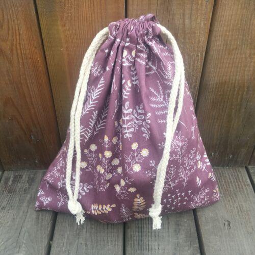 1pc Cotton Twill Drawstring Pouch Organizer Party Gift Bag Print Rural Grass F E