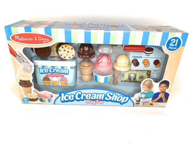 Melissa Doug Ice Cream Shop Play Set 21 Pc Pretend Food
