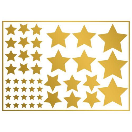 Iron on Gold Stars Transfers 45x Pack Iron-on Metallic Star Heat Transfer vinyl