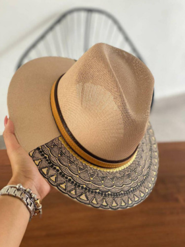 Hand Painted Women Hat