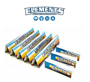 5x-Elements-King-Size-Slim-Thin-Rice-Rolling-Rizla-Papers-3x-Roaches-Tips-NEW