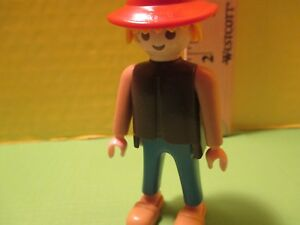 b6952e74d04 Playmobil figure MAN IN PLAIN CLOTHES W  BROWN HAT   TAN CLOGS