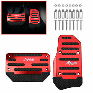 Universal-Red-Non-Slip-Automatic-Gas-Brake-Foot-Pedal-Pad-Cover-Car-Accessories