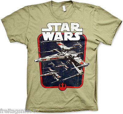 STAR WARS  RED SQUADRON  T-Shirt  camiseta cotton officially licensed
