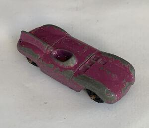 1950's Tootsie Toy Metal Diecast Purple Jaguar Car- RARE.. L246