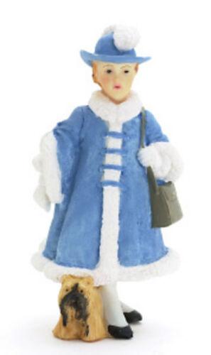 T8232 Girl w//Bag /& Dog Victoria Dollhouse Miniature Doll