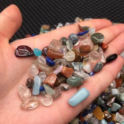 100G Bulk Natural Pink Crystal Quartz Gravel Tumbled Stone Healing Specimens