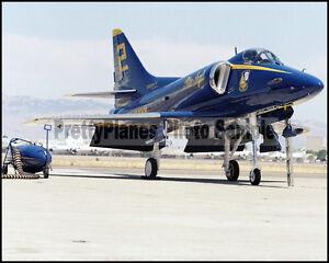 USN-Blue-Angels-A-4-Skyhawk-Moffett-Field-1985-8x10-Aircraft-Photos