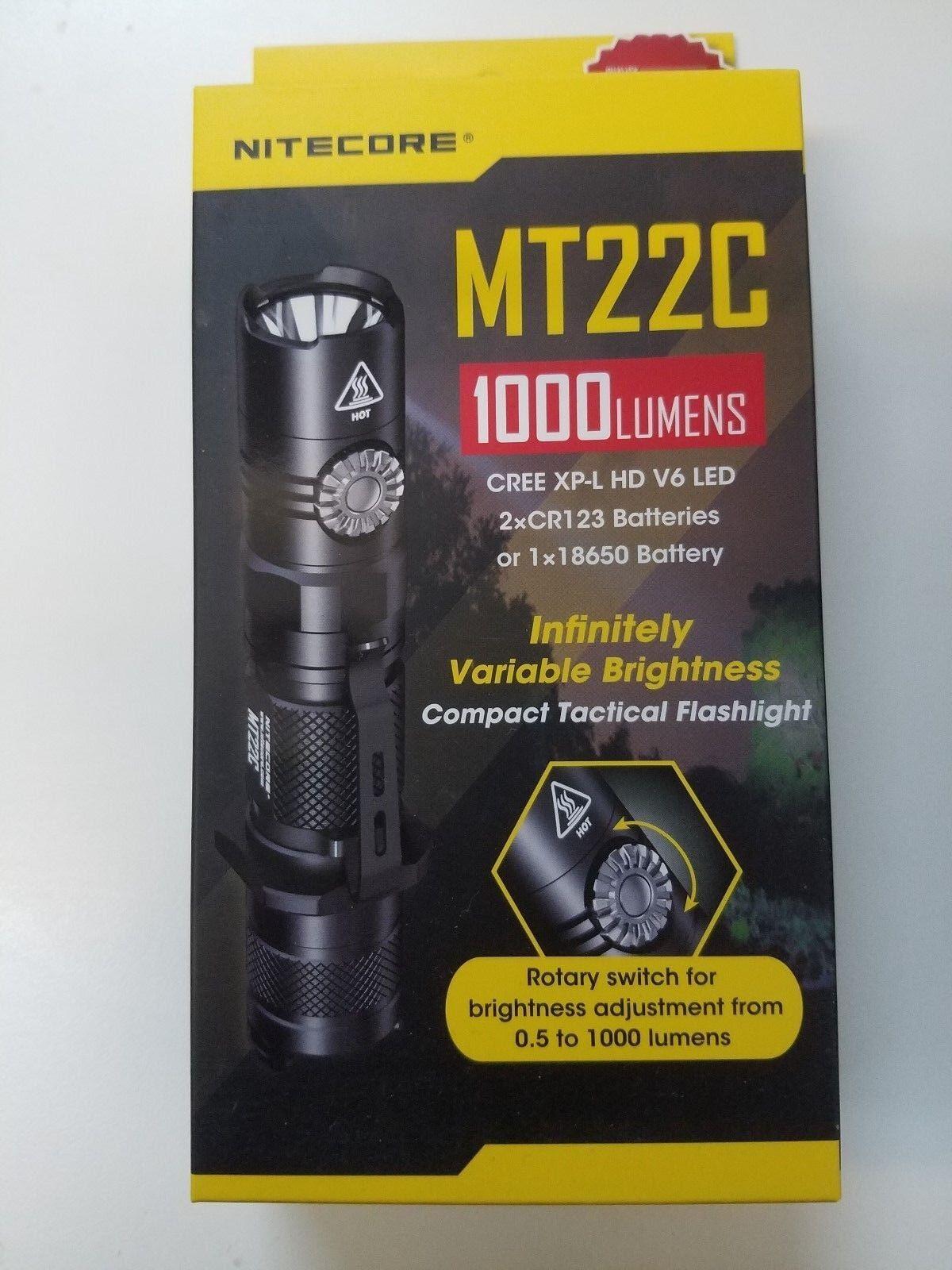 Nitecore MT22C CREE XP-L HD V6 LED Compact Flashlight