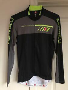 450361455 CASTELLI VELOCISSIMO 2 Men s L S Bike Jersey BLACK GRAY YELLOW Large ...