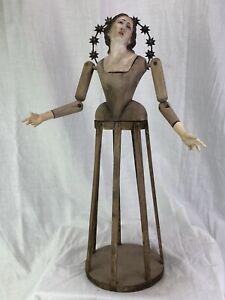 Manichino-Legno-Wood-Dummy-44-cm-Madonna-Crown-Corona-Barocco-Addolorata