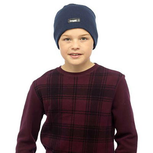 Thinsulate Boys Kids Thin Winter Thermal Fleece Lined Beanie Hat 3 in Colours