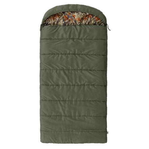 "Ozark Trail North Fork 30F Flannel Hooded 78/"" x 36/"" Sleeping Bag Camouflage"