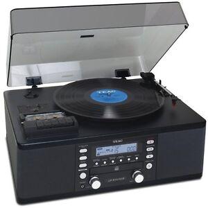 TEAC-LP-R550USB-CD-Burner-Cassette-AM-FM-Radio-USB-Record-Player-Black