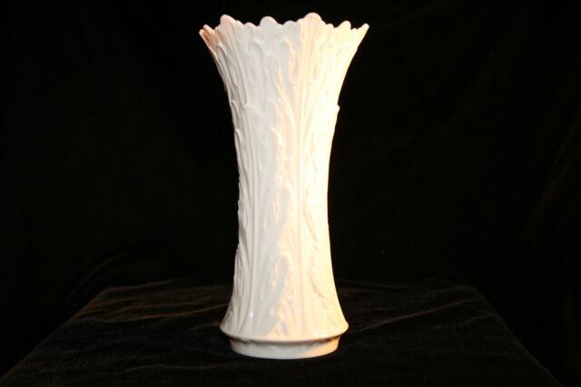 Vintage Ivory Lenox Porcelain Vase Embossed Floral Design Ebay