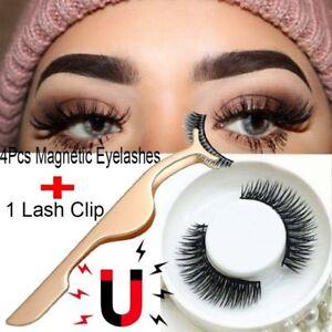 97ef3a54dc5 3d Magnetic False Eyelashes Soft Natural Long Hair Eye Lash Extension  W/tweezer