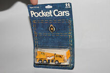 TOMICA POCKET CARS, RARE 1ST 1974 BLISTERPACK #36-72 DATSUN CRANE TRUCK, LOT B