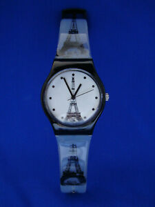 Eiffel-Towers-Watch-Wristwatch-Paris-France-Clear-Plastic-Band