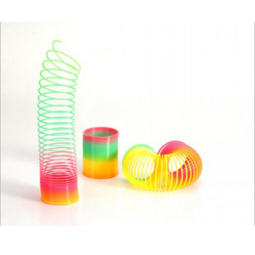 Magic Slinky Plastic Rainbows Springs Bounce Children Fun Toy Birthday Gift UP