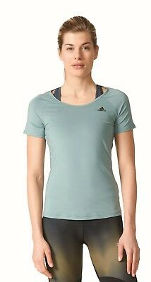Adidas Performance Damen Sport Fitness Shirt Basic Solid Performance Tee Grün