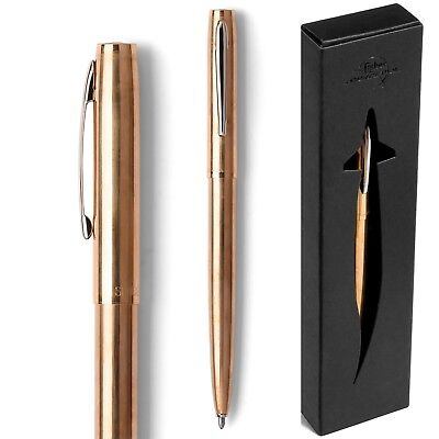 M4G Fisher Space Pen Metal Cap-O-Matic Lacquered Brass 1 Each