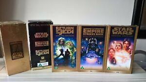 STAR-WARS-TRILOGY-BOX-SET-VHS-VIDEO-Special-Edition-Empire-strikes-Return-Jedi