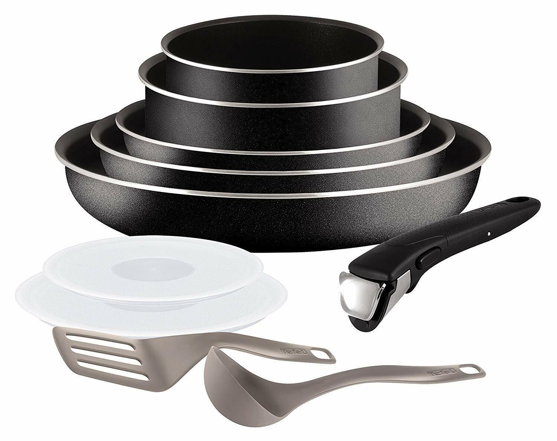 Poêles et casseroles Tefal Ingenio Essential noir Set 10 batterie 10 piéces NEUV