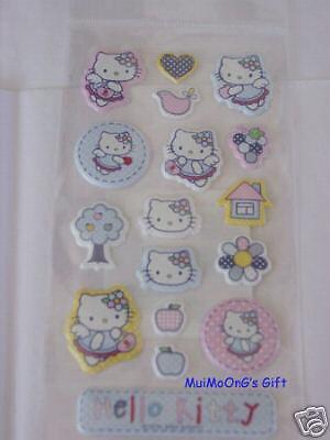 New Sanrio Stitch Hello Kitty Sticker 17 Pcs QQ