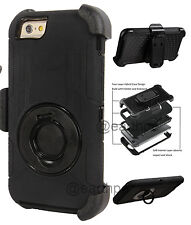"""iPhone 6 6s 4.7"""" - 4 Layers Combo Rugged Case Cover Holster with Belt Clip"""