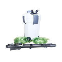 Aquarium Canister Filter 525 Gph 9w Uv Sterilizer Sunsun Hw-304b 200g Free Media