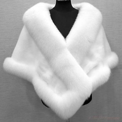 Womens fur coat collar cape wedding warm jacket free size warm winter Thicken