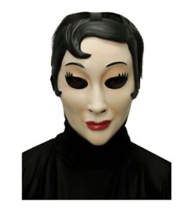 Details About EMO GIRL PLASTIC FACE MASK HALLOWEEN COSTUME