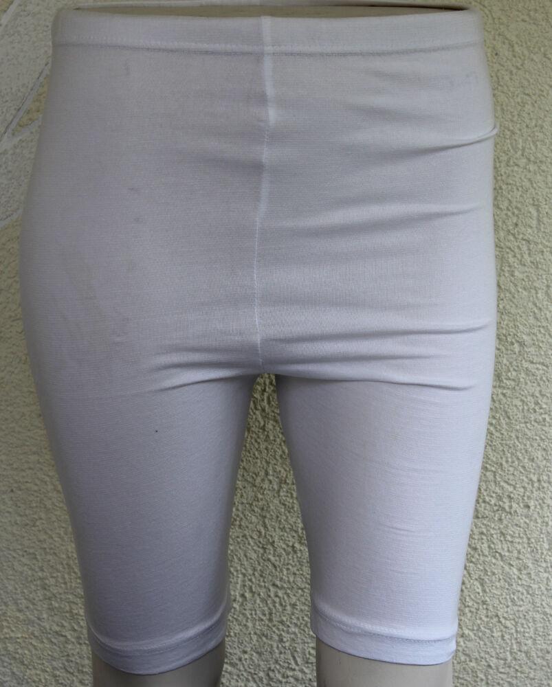 0169 Cycliste Short Court Shorts Cuissard Cycliste Turnhose Enfants Blanc Taille S