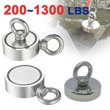 200 1300 Lbs Pull Force Super Strong Neodymium Fishing Searching Magnet Big Kit