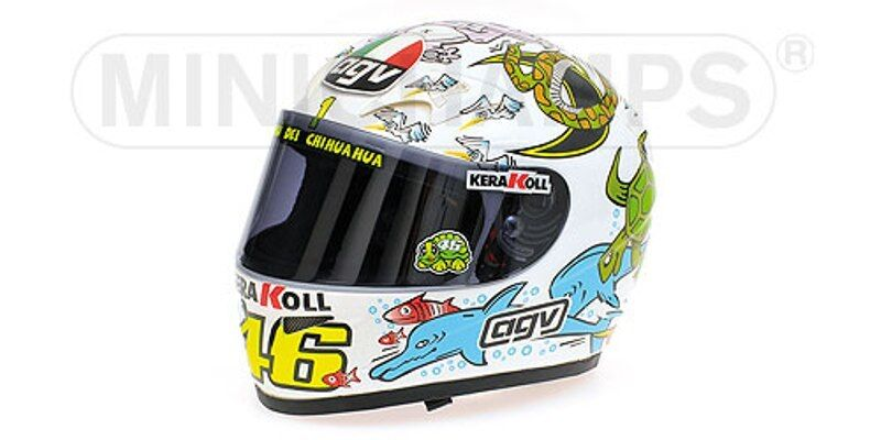 MINICHAMPS 030086 0400 96 050046 050066 0500 86 AGV Casque Rossi 2003 04 05 1 2nd