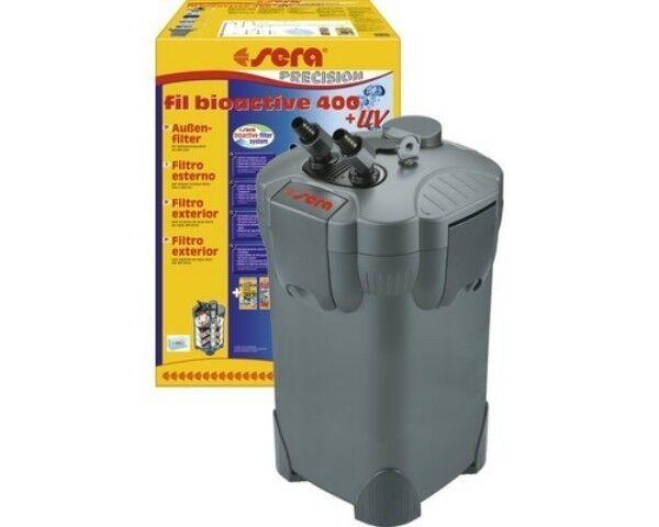 Sera fil bioactive 400 Außenfilter + UV Plus 1 Liter Sera vipan Abgepackt