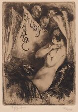 curiosa erotica ex-libris erotique Victor Mignot signé signed erotic bookplate